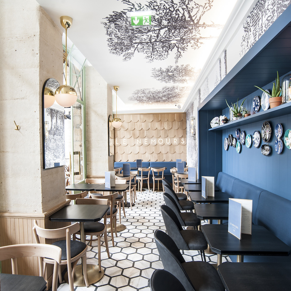 Michael Malapert Interior Design Restaurant Le Nemours Paris